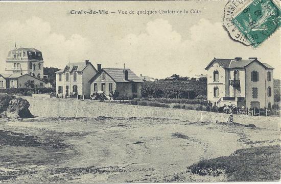 Croix-de-Vie, vue de quelques chalets de la côte.