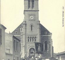 Croix-de-Vie, procession eucharistique de mai 1910.