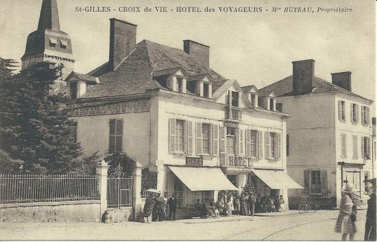 St-Gilles-Croix-de-Vie, hôtel des Voyageurs, Mme Huteau Propriétaire.