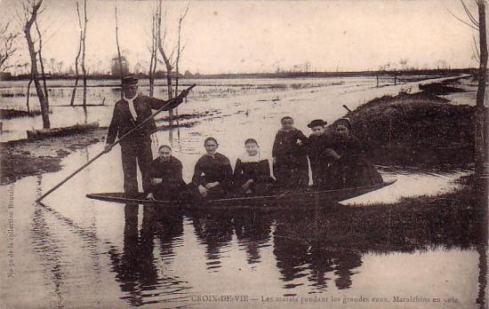 Croix-de-Vie, les marais pendant les grandes eaux.