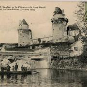 Apremont, le Château et le pont démoli.