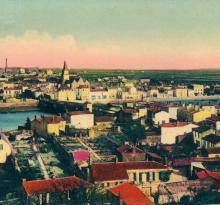 Vue générale de St-Gilles et Croix-de-Vie.