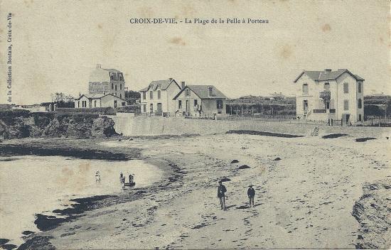 Croix-de-Vie, la plage de la pelle fà Porteau.