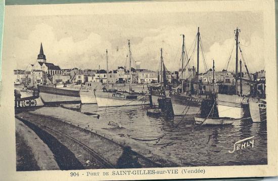 Le port de St-Gilles-sur-Vie.
