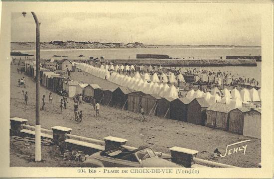 la plage de Croix-de-Vie.