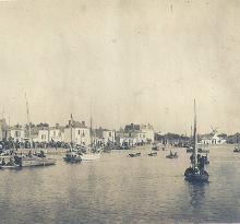 Le quai de St-Gilles et le moulin.