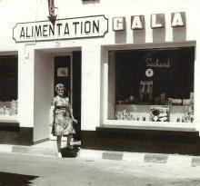 St-Gilles-sur-Vie, épicerie Averty dans les années 1960.