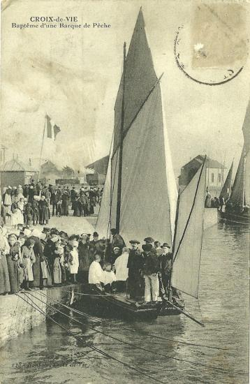 Croix-de-Vie, le baptême d'une barque.