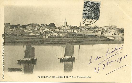 St-Gilles-sur-Vie et Croix-de-Vie, vues générales.