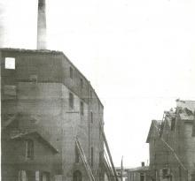 Saint-Gilles-sur-Vie, l'incendie de la minoterie.