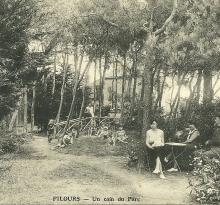 Un coin du parc de Ker Pil-hours.