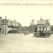 Croix-de-Vie, les chalets en bordure de côte.