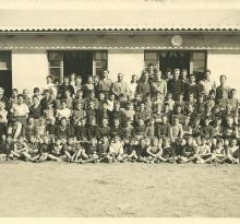 St-Gilles-sur-Vie, colonie à l'école maritime en 1952.