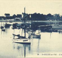 Saint-Gilles-sur-Vie, l'arrière port.