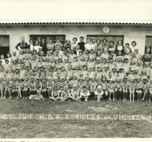St-Gilles-sur-Vie, colonie HBA en 1954.