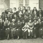 Saint-Gilles-sur-Vie, école Jeanne d'Arc, année 1932.