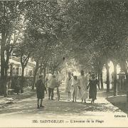 Saint-Gilles-sur-Vie, l'avenue de la plage.