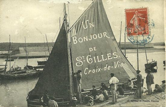 Un bonjour de St-Gilles-Croix-de-Vie.