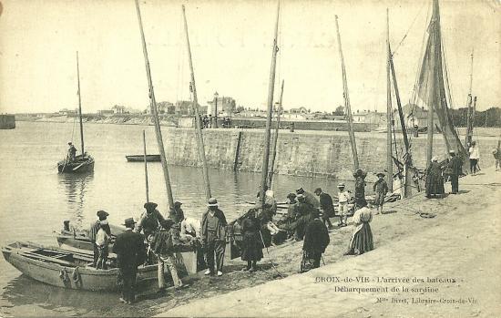 Croix-de-Vie, l'arrivée des bateaux.