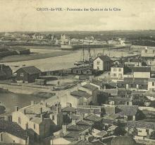 Croix-de-Vie, panorama des quais et de la côte.