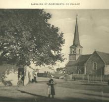 Croix-de-Vie, l'église avant 1880.