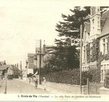 Croix-de-Vie, la villa Popo en bordure du boulevard.