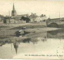 Saint-Gilles-sur-Vie, un joli coin du port.
