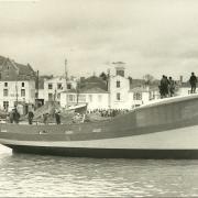 St-Gilles-sur-Vie, baptême du bateau Petit Jean-Yves.