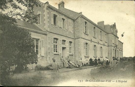 Saint-Gilles-sur-Vie, l'hôpital et ses soldats.