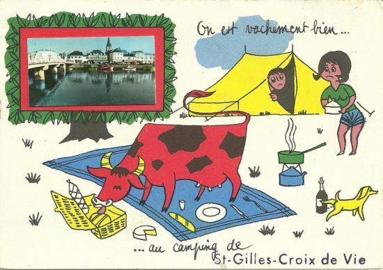 On est vachement au camping de Saint-Gilles-Croix-de-Vie.