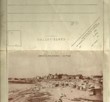Carte-lettre recto, la plage de Croix-de-Vie.