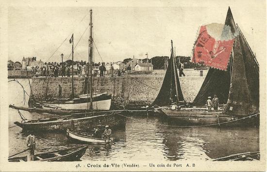 Croix-de-Vie, un coin du port.