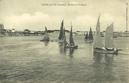 Croix-de-Vie, le port et les quais.