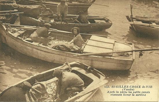 St-Gilles-Croix-de-Vie, après la pêche.