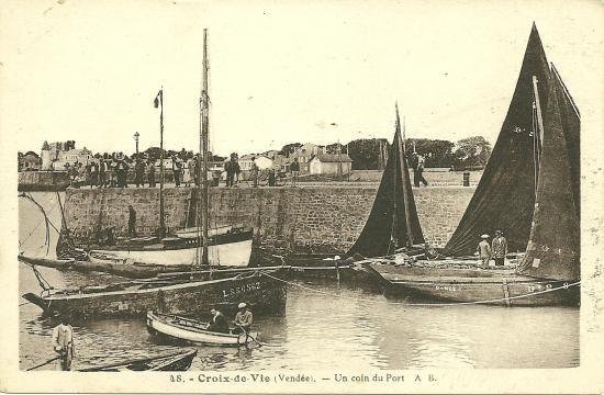 Croix-de-Vie, un coin de port.