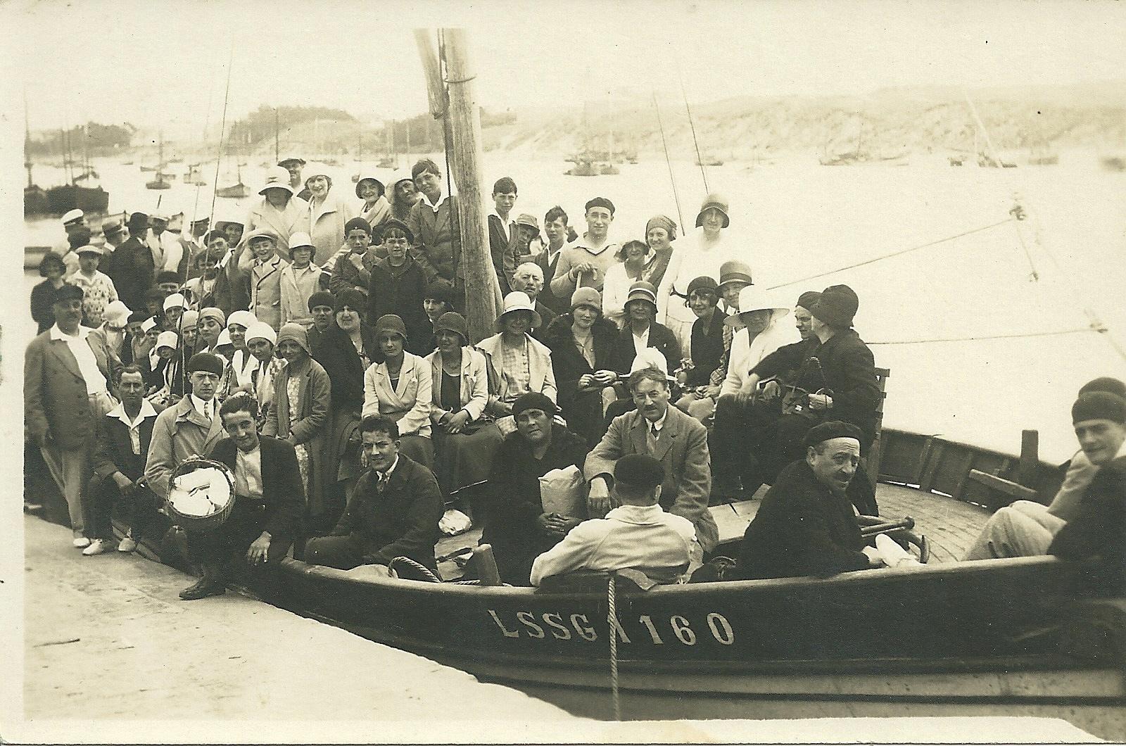 Croix-de-Vie, un passeur, bateau l'Hirondelle.