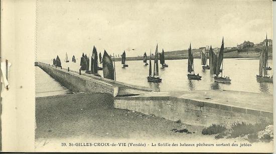 St-Gilles-Croix-de-Vie, la flotille des bateaux pêcheurs.