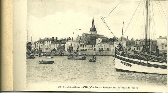 St-Gilles-sur-Vie, arrivée des bateaux de pêche.