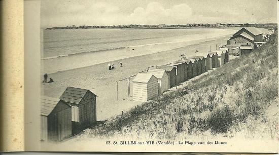 St-Gilles-sur-Vie, la plage vue des dunes.