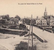 St-Gilles-sur-Vie, le pont et le port.