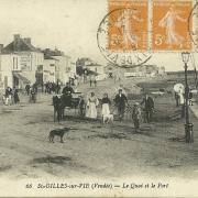 St-Gilles-sur-Vie, le quai et le port.